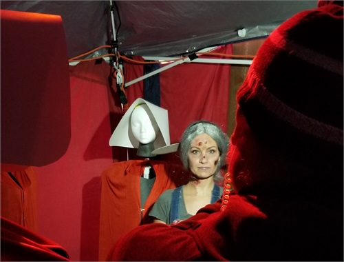 Another live segment inside the Handmaid's Tale room