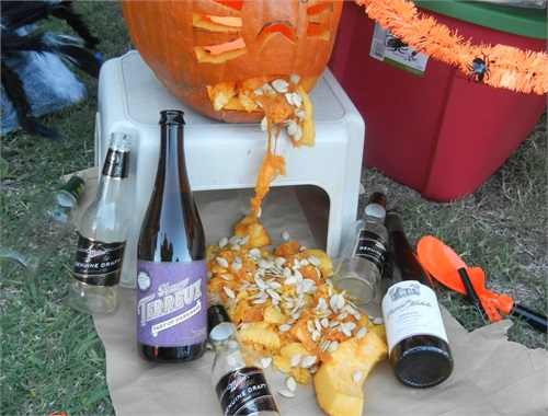 The infamous Drunk Pumpkin of course!