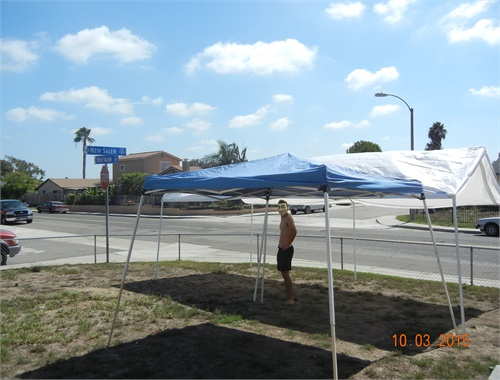 Measuring new canopy for lot space and room location