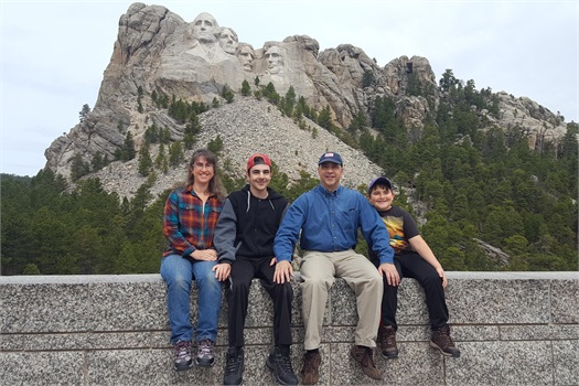 My Family at Mt. Rushmore.