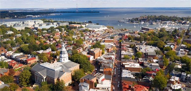 Aerial View of Downtown Annapolis