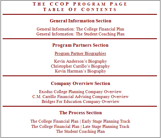 college planners for students