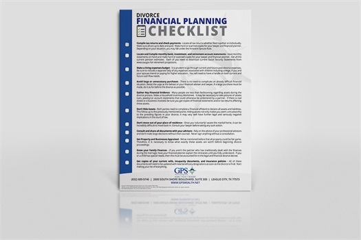 divorce financial planning checklist download gps wealth management