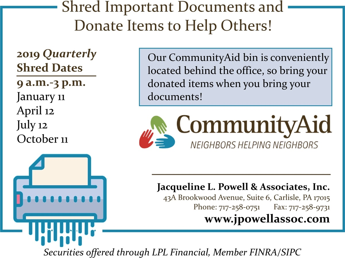 Shred It While Helping Others | Jacqueline L  Powell & Associates, Inc