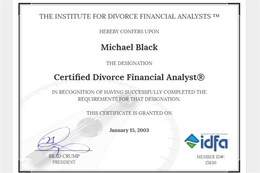 Certified Divorce Financial Analyst