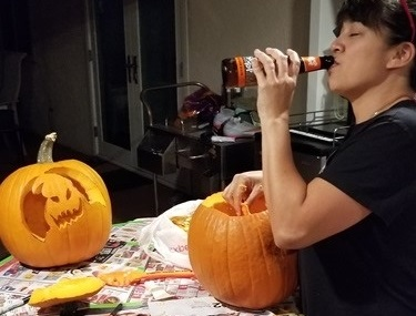 It's not a drunk pumpkin until you have a drunk carver