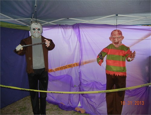Jason and Freddy has been promoted from outside decorations to part of the Haunt