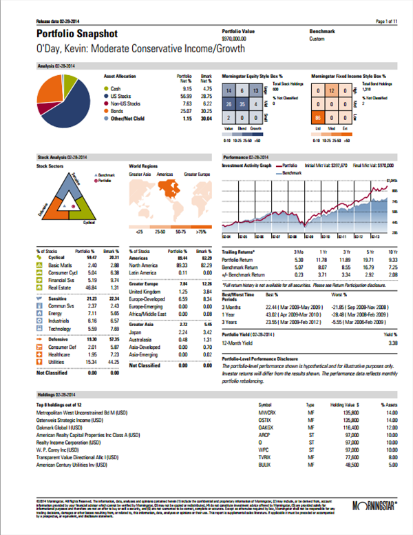 sample of financial report