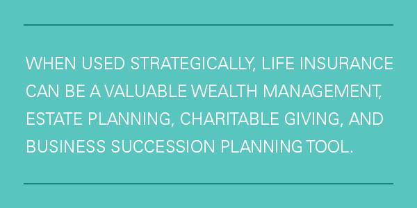 Most of us cringe at the thought of life insurance, so let's talk about strategic ways life insurance can help you create a preserve wealth.