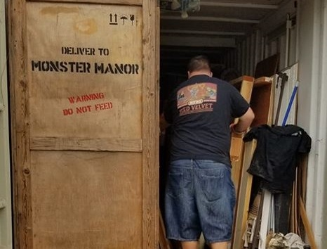 COO rummaging through a container provided my Monster Manor to find useful items