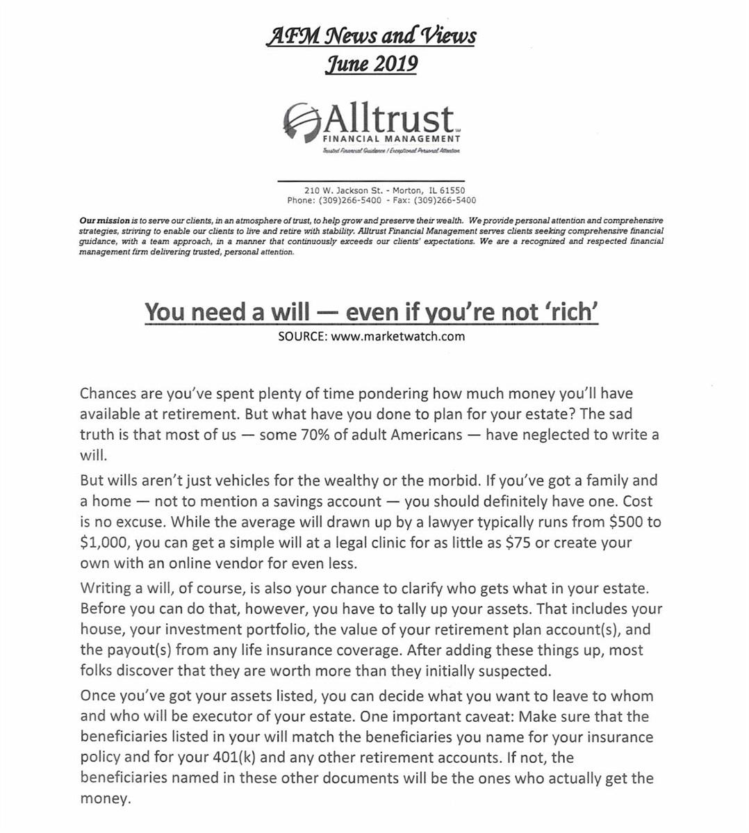 Alltrust Newsletters