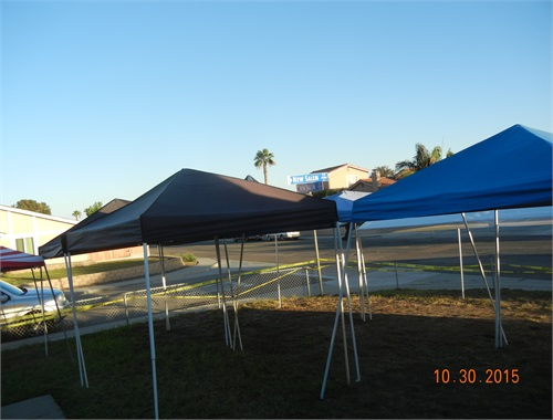 Friday Oct. 30th, setting up the canopies