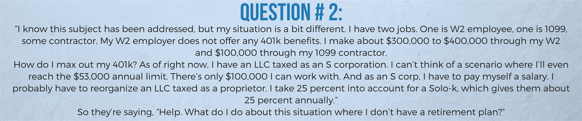 3 Answers To The Tax Questions Physicians Have Been Asking David