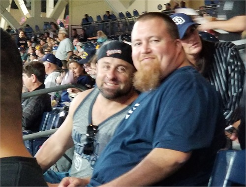 COO and The Butcher at another Padre Game
