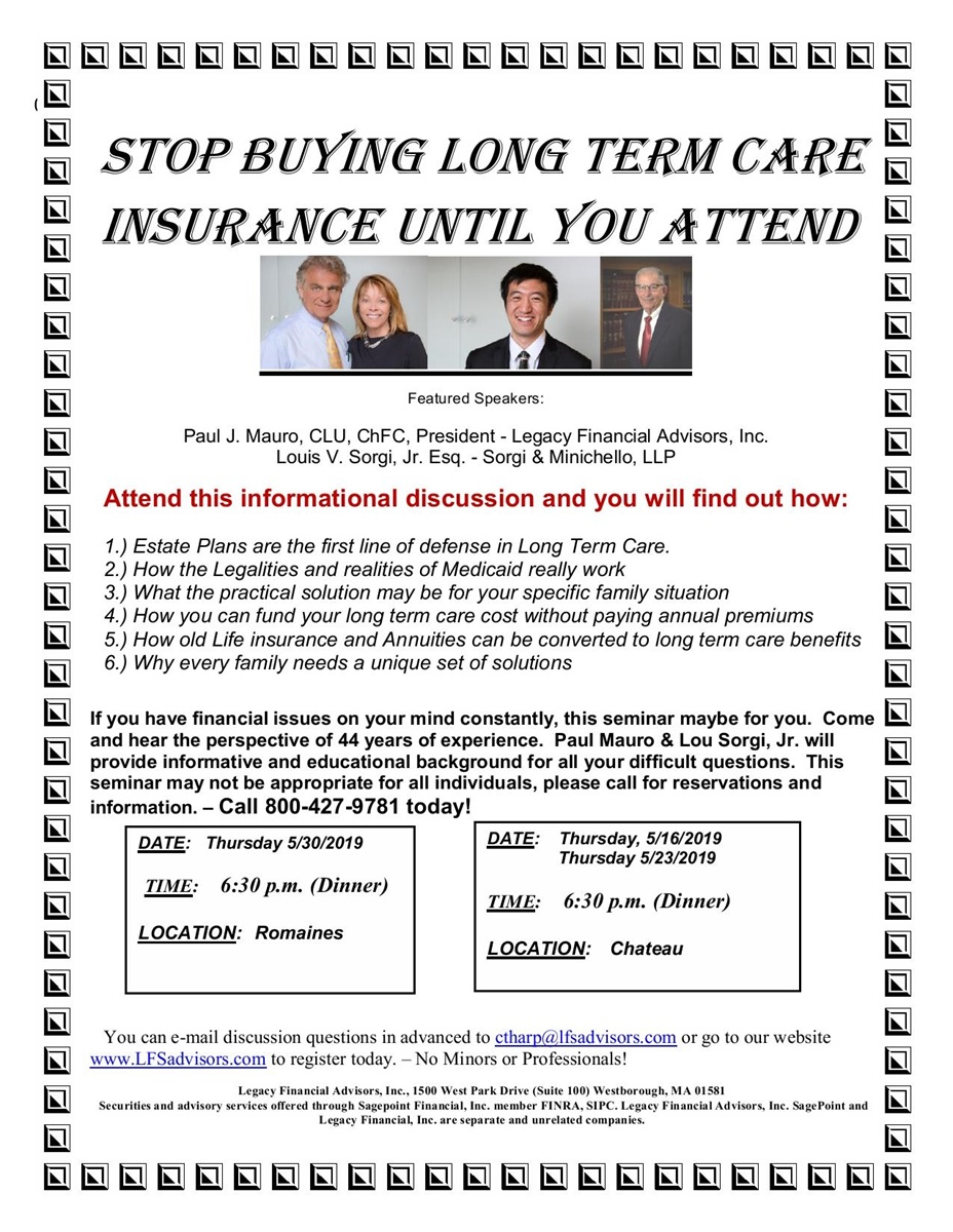 Stop Buying Long Term Care Insurance | Legacy Financial Advisors, Inc