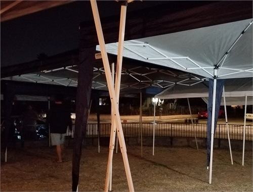 All canopies up for the night