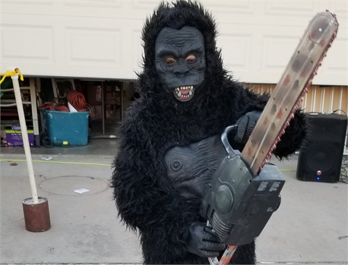 Chainsaw wielding gorilla debut