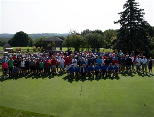 The whole golfing crew in Wisconsin