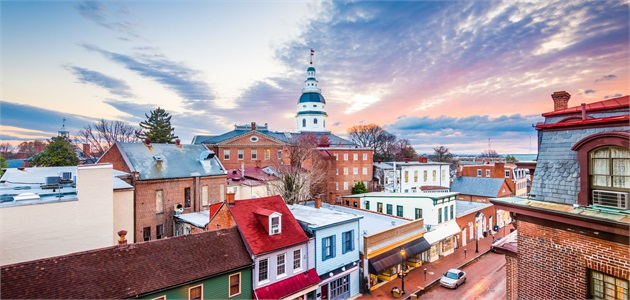 Historic Downtown Annapolis at Sunrise