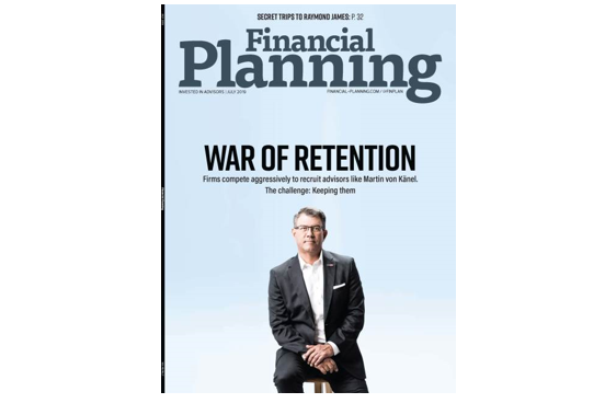 Financial Planning Magazine Cover Article