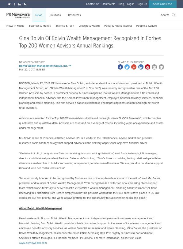 Bolvin Wealth In the News | Bolvin Wealth Management Group
