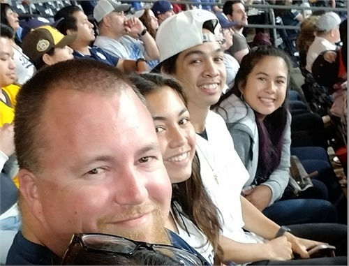 COO at Padre Game with two actors and Concession Sales Manager