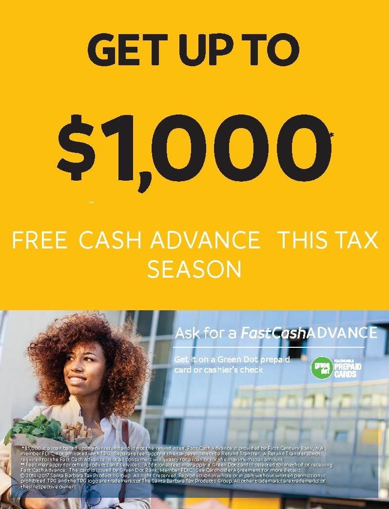 Free Tax Refund Advance