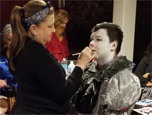 "Actor Eli getting his ""IT"" make up"