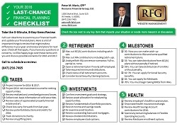 last chance financial planning checklist resource financial group ltd