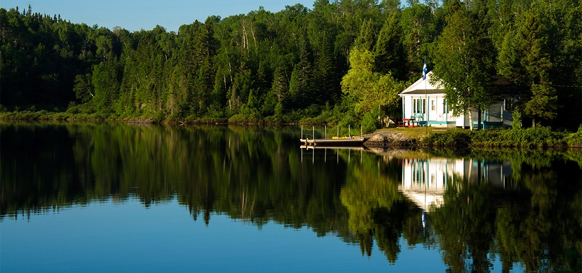 Fishing at your house on the lake?