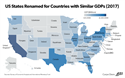 Infographic- US States renamed for Countries with Similar GDP
