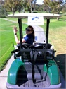 B driving the cart