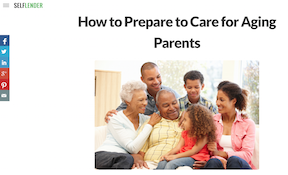 How to Prepare to Care for Aging Parents