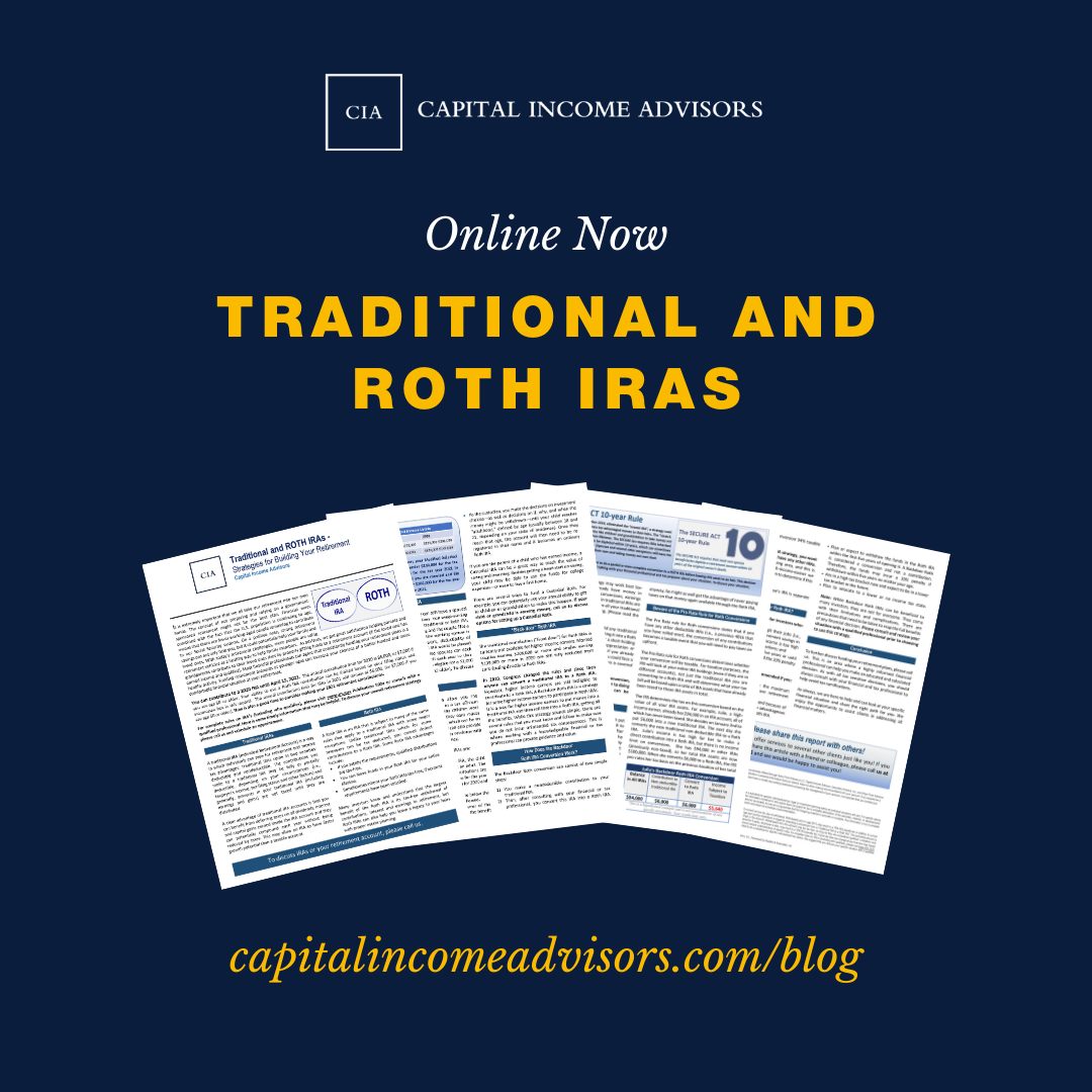 Traditional and ROTH IRAs - Strategies for Building Your Retirement