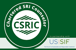 Oliver Ernst earns Chartered SRI Counselor (CSRIC™) Designation