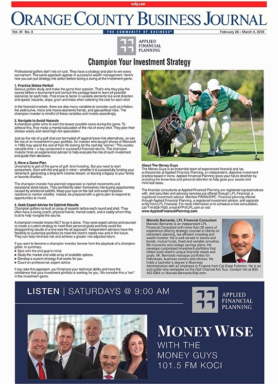February 2018 - OCBJ - Champion Your Investment Strategy