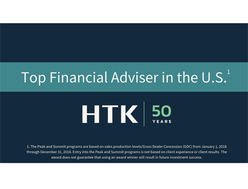 Debra Clark Recognized as Top Financial Adviser in the U.S. by HTK