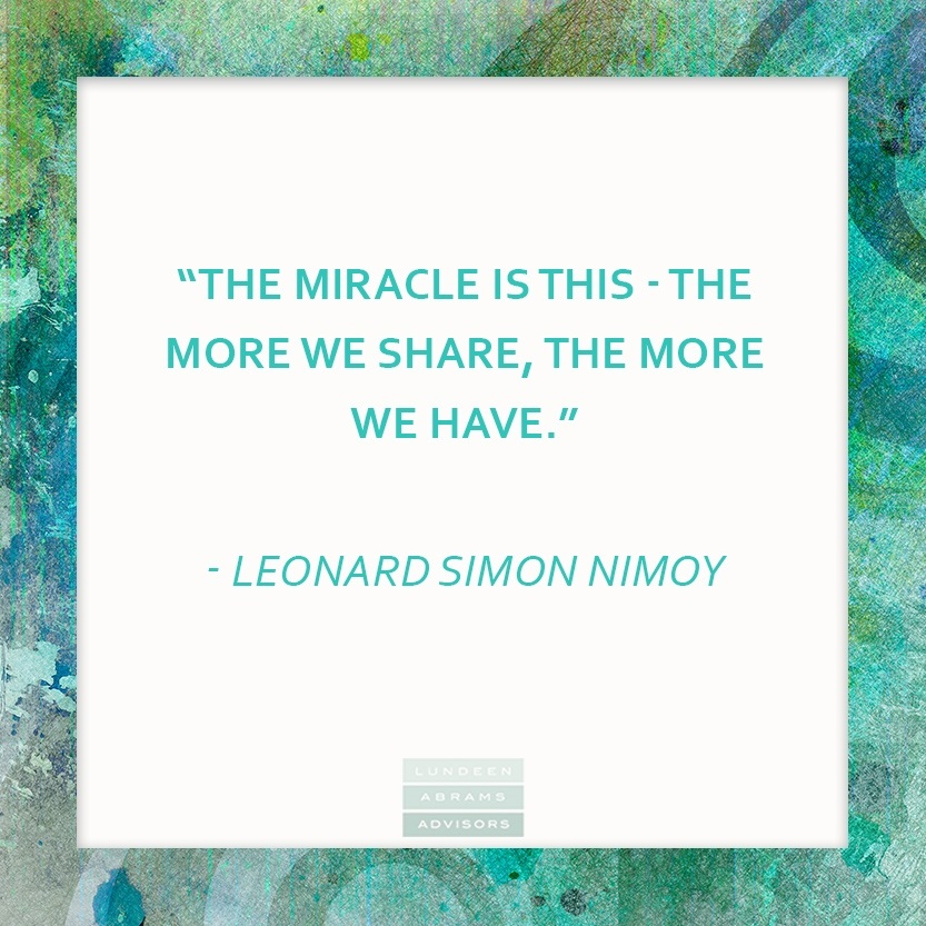 Nimoy on Miracles & Sharing