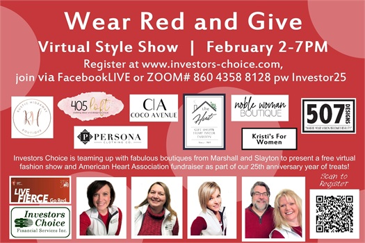 Wear Red & Give is part of the American Heart Association campaign to bring awareness to women's heart disease.