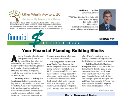 Your Financial Building Blocks