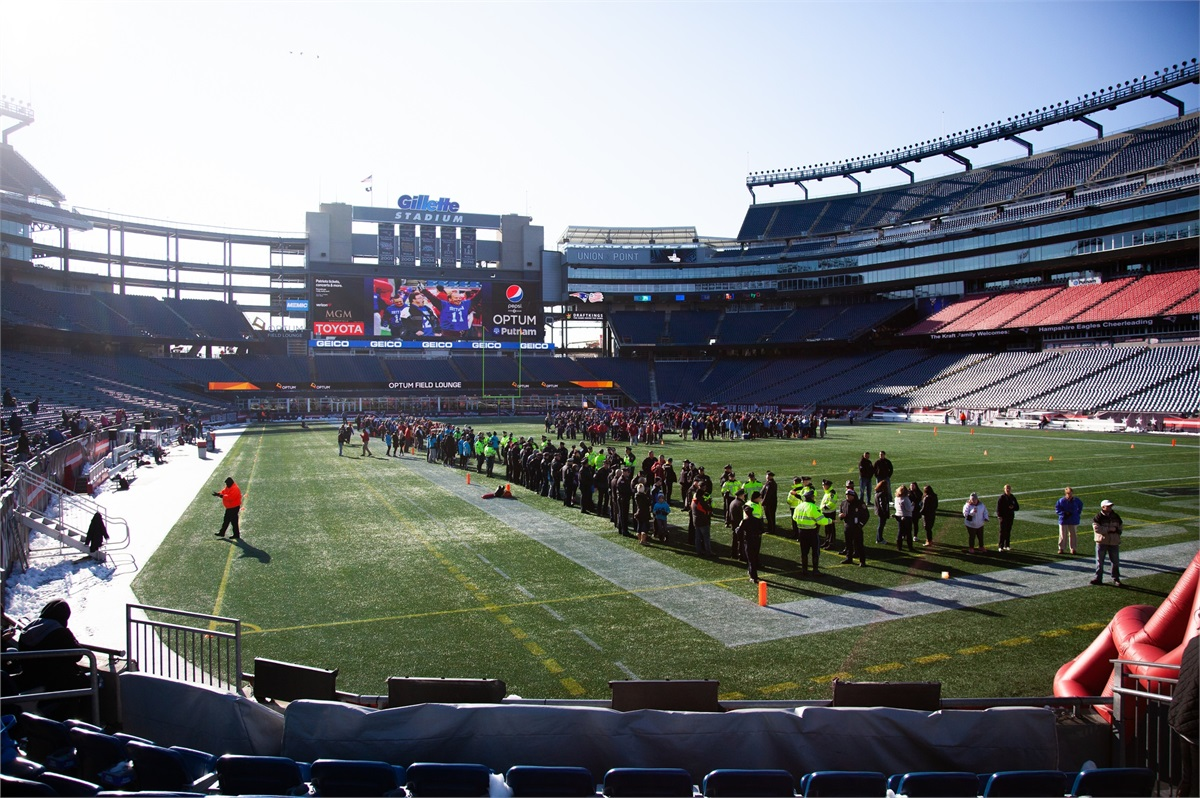 CFG Employees Volunteer at Gillette Stadium
