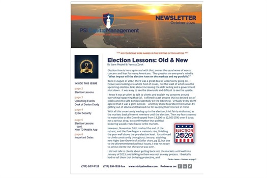 <strong>October 2020 Newsletter</strong>