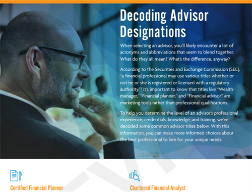 Decoding advisor designations