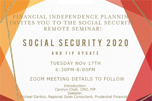 Social Security Virtual Seminar