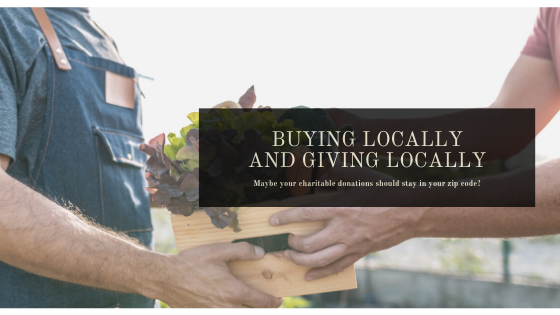 Buying Locally and Giving Locally