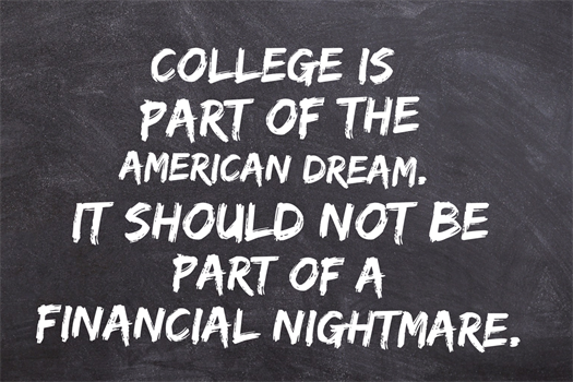 Managing higher education debt can be stressful.