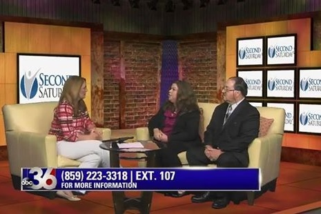 Doug Donald & Jenny Scott on ABC Channel 36 WTVQ speaking about Central Kentucky Second Saturday Divorce Workshop