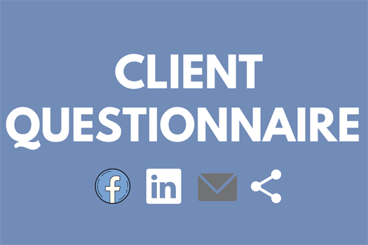 Please fill out the Client Questionnaire, so Lindberg Financial can serve you best!