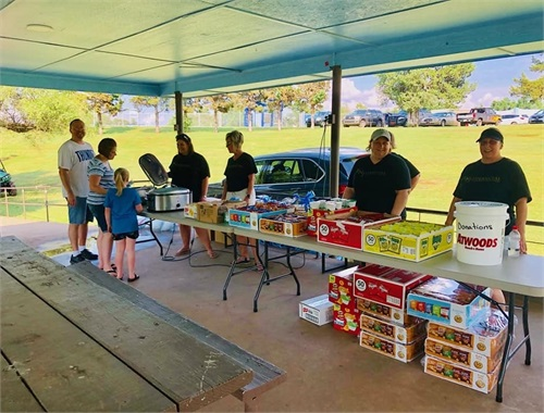 "Our staff had the opportunity to serve lunch to the community of Alva during the ""Pack the Park"" event!"