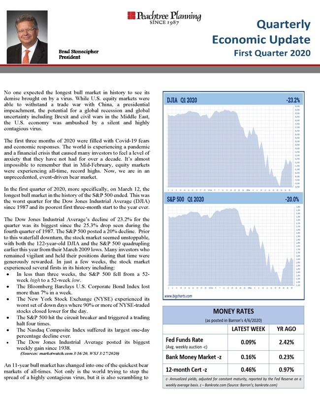 Quarterly Economic Update: First Quarter 2020